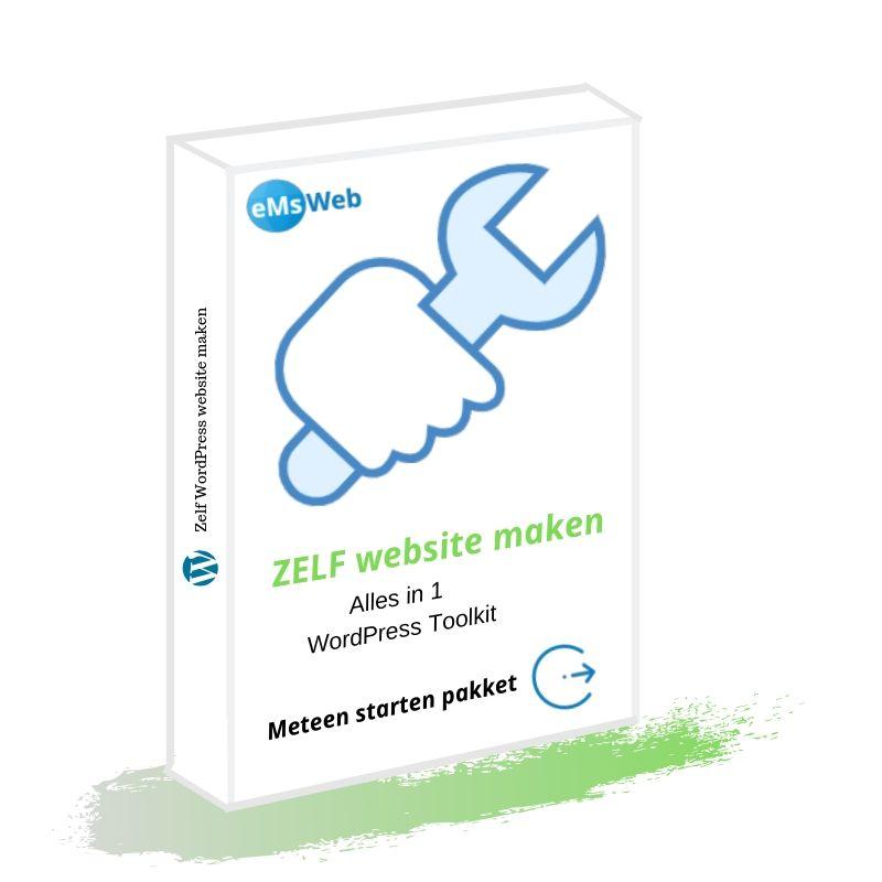 Website zel maken pakket product afbeelding jpg